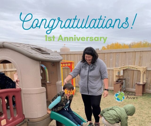 "Today we are celebrating another 1 year Anniversary at Lewis Farms.  Today, it's Christina!  Christina is known for many things at our Centre.  She's the ""morning girl"" who ensures that all of the children get safely into the Centre each morning.  As you can see from this picture - she always has a smile on her face.  This, combined with her warm laugh and energetic spirit ensure that the children always know that they are loved and valued at the Centre.    We believe that Christina's top quality work is a combination of her extensive early childhood training at Grant MacEwan University, combined with her natural ability to connect with children, parents and colleagues.   Congratulations on your first year Christina and we look forward to many more!"