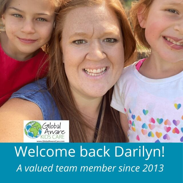 As a small, locally owned business, every child and every Educator is a valued and celebrated part of the Global Aware Care family.   Eight years ago this month, we met Darilyn.  At the time, she was in University studying to be a teacher.  We were excited to help to prepare the next generation of teachers by giving her practical, hands-on experience to support what she was learning at school.   We are thrilled that Darilyn continues to be a valued member of our Educator team, joining us on Spring Break and in the summer.  Welcome back, Darilyn and thank you for your ongoing investment in the hearts and minds of our Out of School Care kids!
